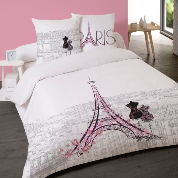 housse de couette 200x200cm 2 taies d oreiller les toits de paris dv achat vente housse de. Black Bedroom Furniture Sets. Home Design Ideas