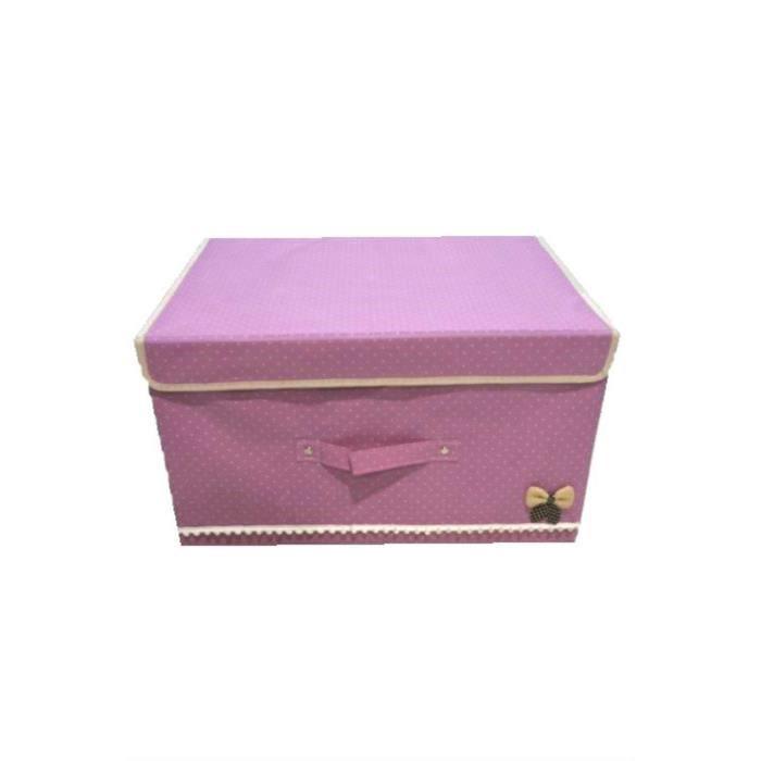 grande bo te de rangement en rose achat vente housse habit chaussure tissu cdiscount. Black Bedroom Furniture Sets. Home Design Ideas