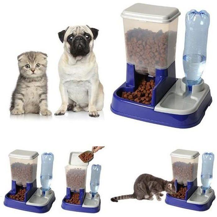 distributeur eau et croquettes automatique pour chien et chat achat vente gamelle cuelle. Black Bedroom Furniture Sets. Home Design Ideas