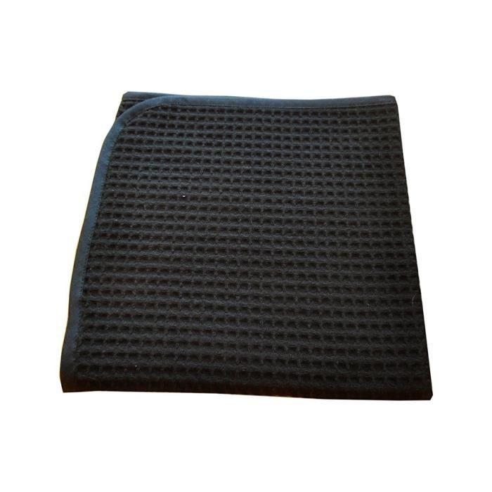 Lot de 2 serviettes nid d 39 abeille noir achat vente for Serviette de table noir
