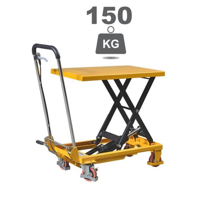 Table l vatrice manuelle falconlift standard 150 kg achat vente table elevatrice cdiscount - Table elevatrice occasion ...