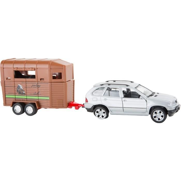 voiture miniature bmw x5 et remorque pour chevaux achat vente voiture camion cdiscount. Black Bedroom Furniture Sets. Home Design Ideas
