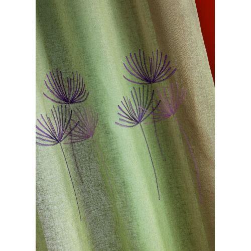 Rideau fantaisie 39 grosses fleurs 39 parme 140x240 cm achat for Rideau fantaisie
