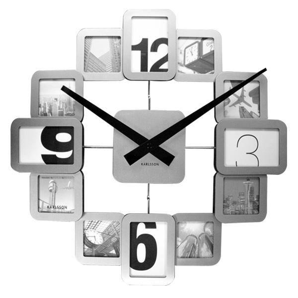 pendule horloge cadre photo alu achat vente horloge. Black Bedroom Furniture Sets. Home Design Ideas