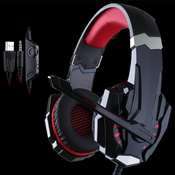 usiful rouge casque gamer ps4 casque gamer 7 1 pour jeux. Black Bedroom Furniture Sets. Home Design Ideas