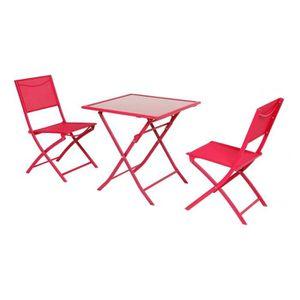 Salon de jardin rouge achat vente salon de jardin rouge pas cher soldes cdiscount - Salon de jardin rouge ...