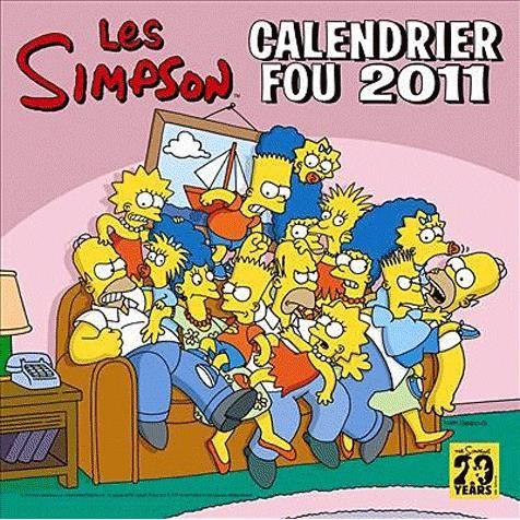 Calendrier fou les simpson 2011 achat vente livre matt gro ning fetjaine parution 20 ao t - Bande dessinee simpson ...