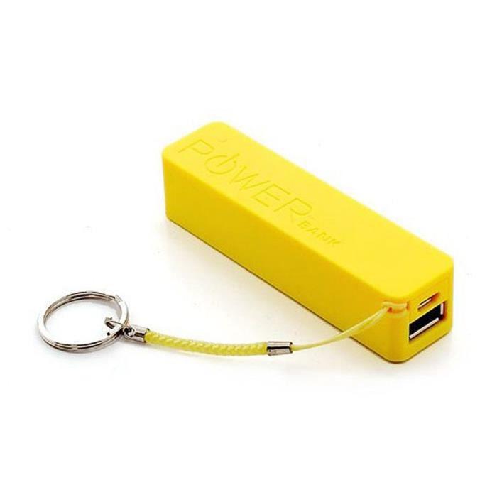 batterie externe rechargeable jaune powerbank 2600mah pour. Black Bedroom Furniture Sets. Home Design Ideas