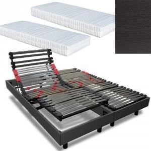 ensemble lectrique 2 x 80 x 200 ensemble electrique relax metal matelas lat. Black Bedroom Furniture Sets. Home Design Ideas