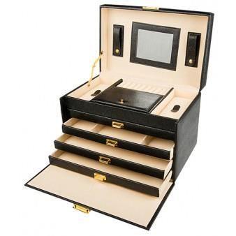 bo te bijoux avec miroir de luxe achat vente boite a bijoux bo te bijoux avec miroir. Black Bedroom Furniture Sets. Home Design Ideas