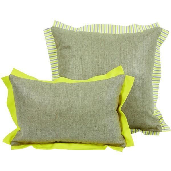 Coussin bicolore gris et jaune gamme zest 45 x achat vente coussin cd - Coussin jaune et gris ...
