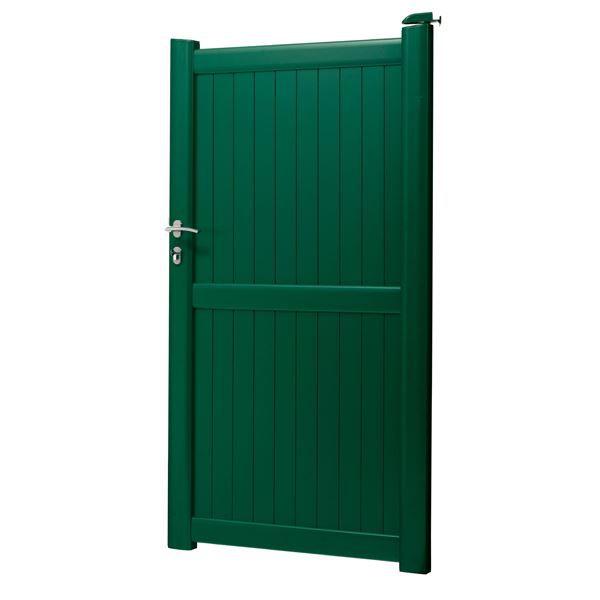 Portillon en aluminium hoteo largeur 1m vert pr achat for Largeur portillon
