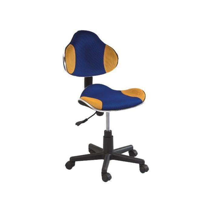 Justhome q g2 chaise fauteuil de bureau bleu jaune 84 - Chaise de bureau bleu ...