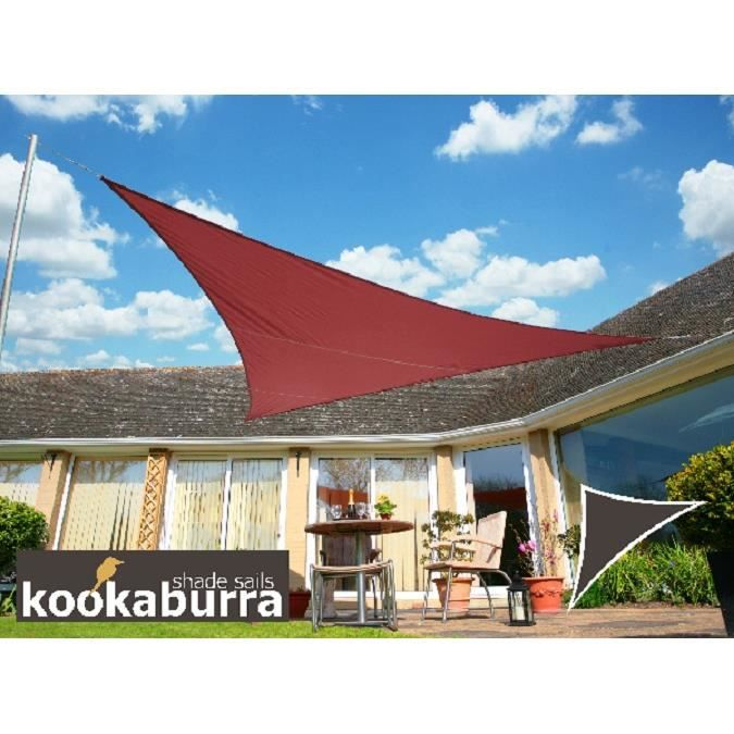 Kookaburra voile d 39 ombrage imperm able 6 0m 4 2m triangle rectangle marsala achat vente - Voile ombrage triangle rectangle ...
