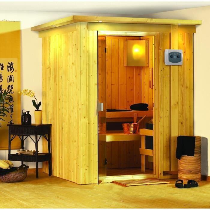 minja cabine sauna 165x165x202cm achat vente kit sauna minja sauna cdiscount. Black Bedroom Furniture Sets. Home Design Ideas