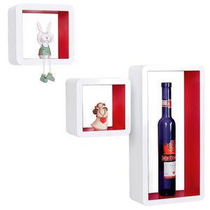 etagere murale cube rouge achat vente etagere murale cube rouge pas cher cdiscount. Black Bedroom Furniture Sets. Home Design Ideas