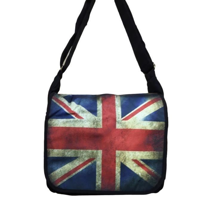 Besace en tissus sac messenger bandouliere reporter london drapeau anglais - Tissu drapeau anglais ...