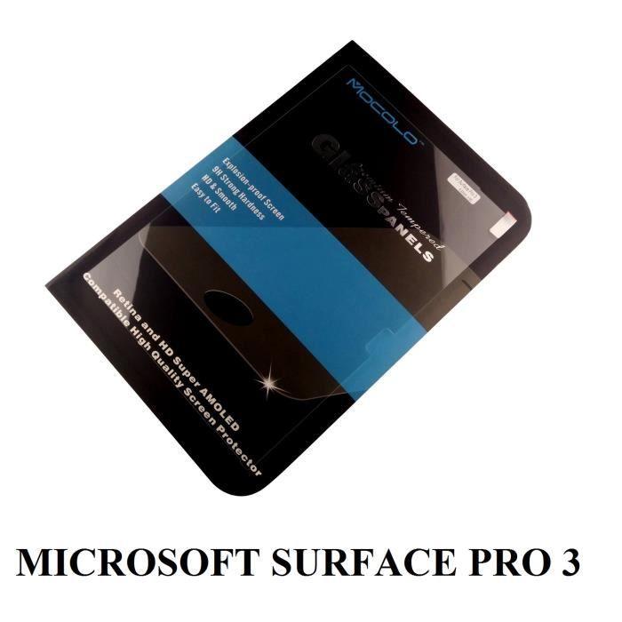 Film verre tremp mocolo tablette microsoft surface pro 3 achat film prote - Tablette verre trempe ...