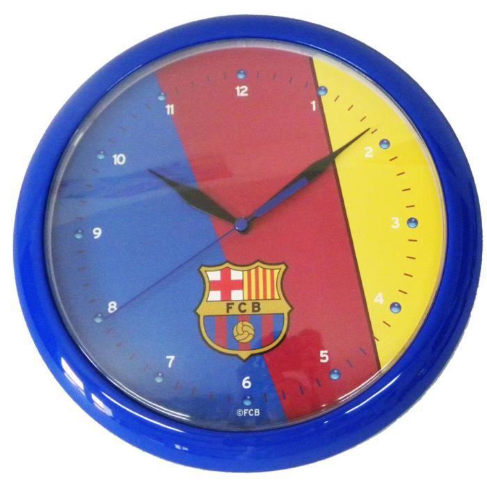 Horloge bleue fcb achat vente horloge pvc cdiscount - Horloge orium led bleue ...