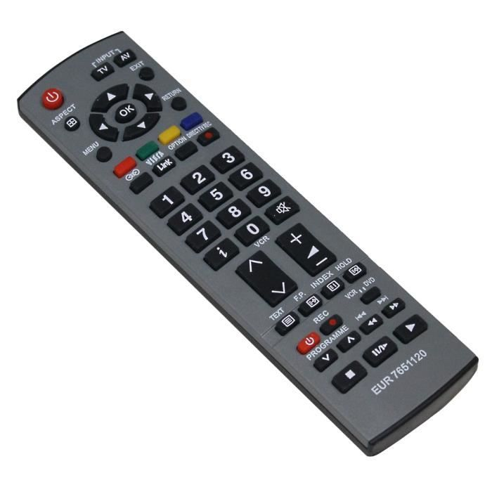 t l commande de tv compatible panasonic eur7651110 t l commande tv avis et prix pas cher. Black Bedroom Furniture Sets. Home Design Ideas