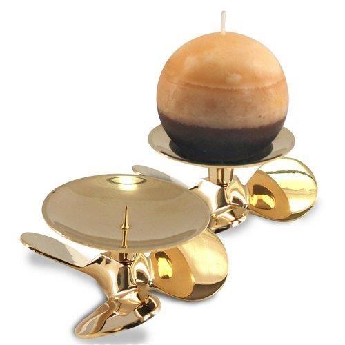 bougeoir en laiton sans bougie helice 11 cm achat vente bougeoir laiton cadeaux de. Black Bedroom Furniture Sets. Home Design Ideas