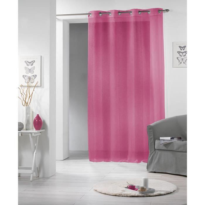 voilage sabl oeillets 140x240 altesse rose achat vente rideau tissu inox cdiscount. Black Bedroom Furniture Sets. Home Design Ideas