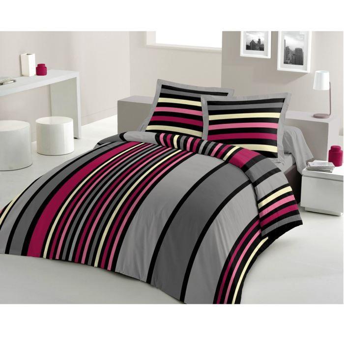 casatxu housse 240x220cm 2 taies sonya rose achat vente housse de couette soldes d t. Black Bedroom Furniture Sets. Home Design Ideas