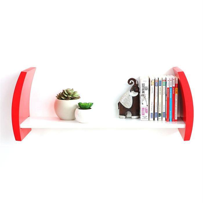 etag re murale design rouge tella achat vente etag re murale etag re tella etagere cdiscount. Black Bedroom Furniture Sets. Home Design Ideas