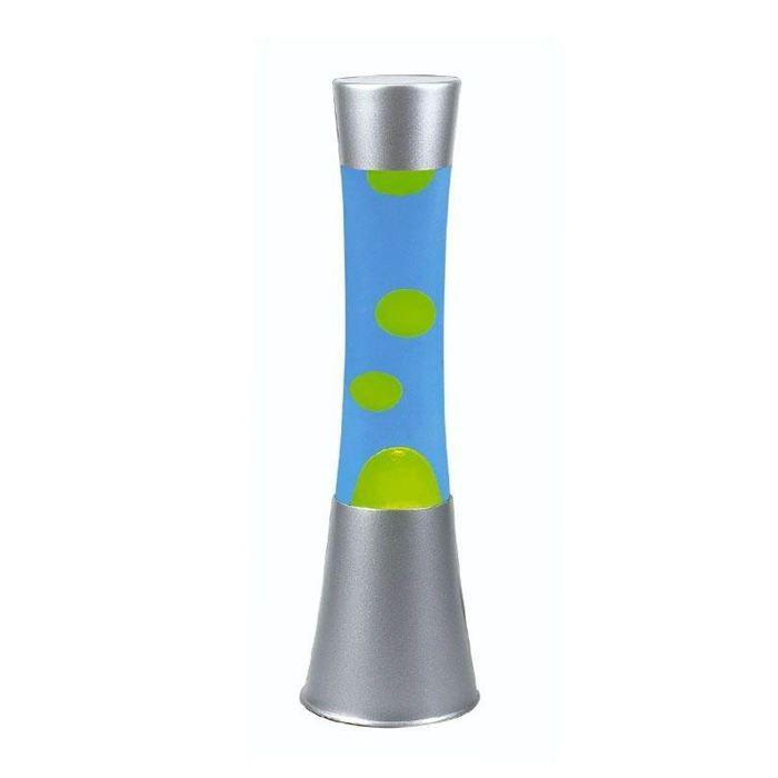 Lampe d 39 ambiance bliss jaune et bleu h 37 cm achat for Lampe ambiance et style