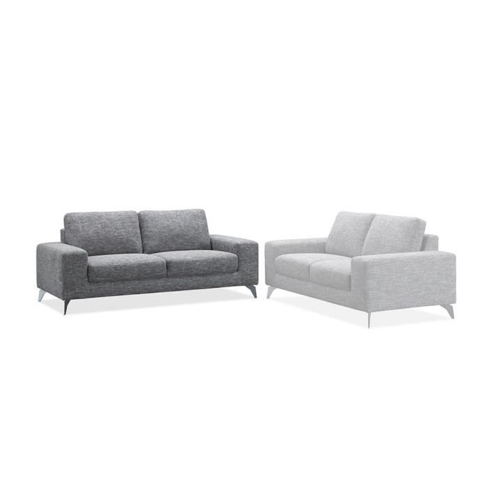 Canap 3 places switsofa urban 2 tissu gris achat for Canape 3 places tissu gris