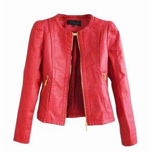 blouson cuir rouge femme achat vente blouson cuir. Black Bedroom Furniture Sets. Home Design Ideas