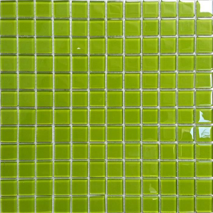 Carrelage mosa que en verre vert les feuilles enti res de carreaux mesurent - Carrelage mosaique discount ...