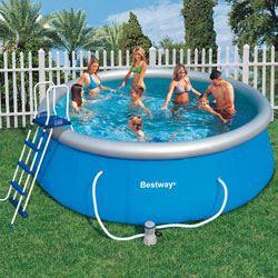 bestway piscine ronde fast set pools m achat