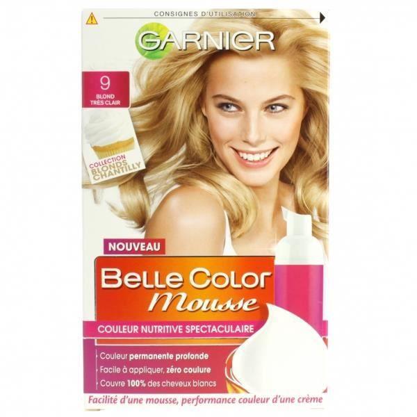 coloration garnier coloration belle color mousse 9 blond - Mousse Colorante Temporaire