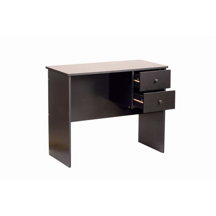 Novo bureau 2 tiroirs 90cm d cor weng achat vente for Bureau wenge