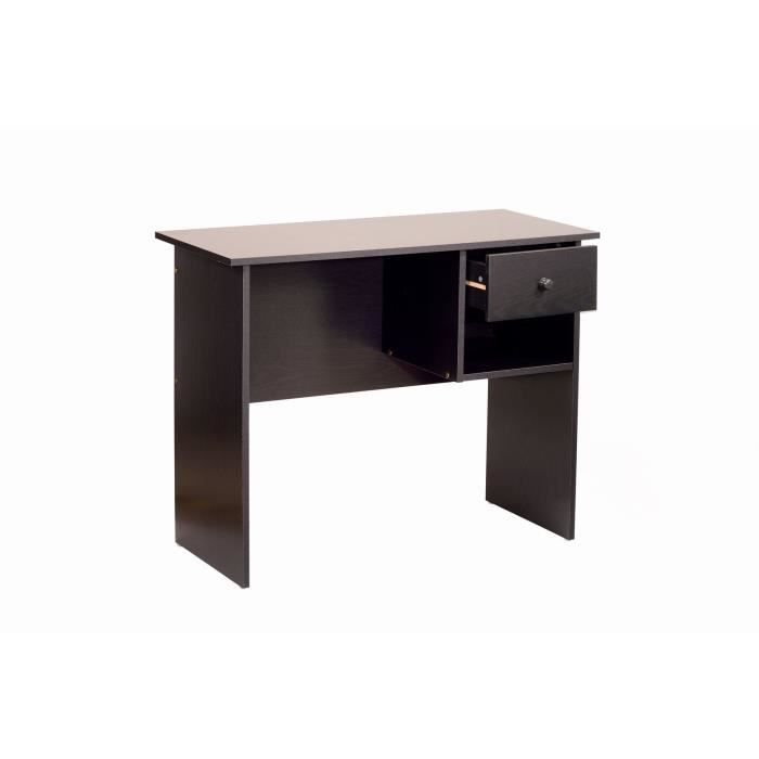 Novo bureau 1 tiroir 90cm d cor weng achat vente for Bureau wenge