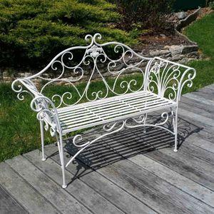 Banc de jardin en fer forg achat vente pas cher les - Salon jardin fer forge pas cher ...