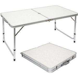 table pliante 120 cm achat vente pas cher soldes. Black Bedroom Furniture Sets. Home Design Ideas