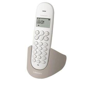 Téléphone fixe Téléphone sans fil avec répondeur Logicom Luna 155