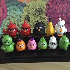 FIGURINE - PERSONNAGE Figurine 12 pièces Angry Birds 3-5 cm