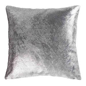 coussin velours gris achat vente coussin velours gris pas cher cdiscount. Black Bedroom Furniture Sets. Home Design Ideas