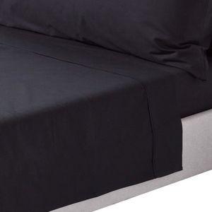 drap plat noir achat vente drap plat noir pas cher cdiscount. Black Bedroom Furniture Sets. Home Design Ideas