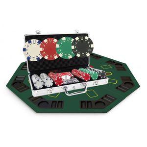 MALETTE POKER Pack Noel malette poker Dice 300 jetons + Table To