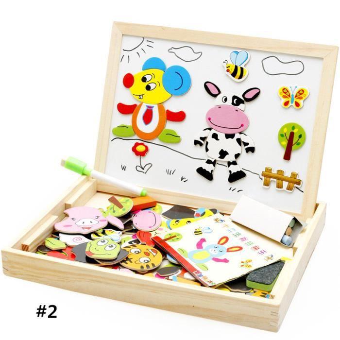 b b enfants doodle bois magn tique puzzle jouets ducatifs animal jeux toy b98b achat vente. Black Bedroom Furniture Sets. Home Design Ideas