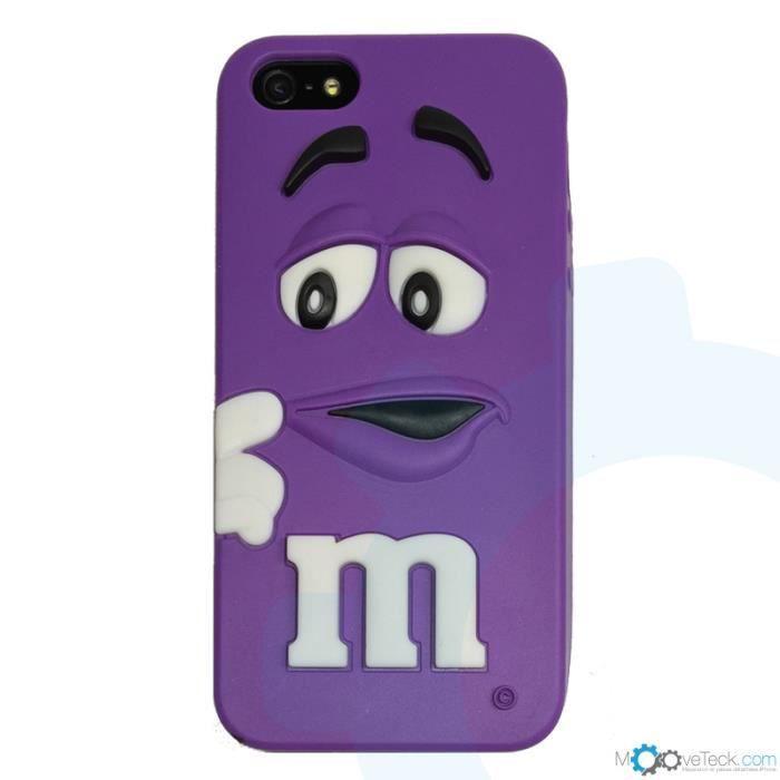 Coque silicone m m s 3d violet pour iphone 4 et 4s achat for Cuisine 3d pour iphone