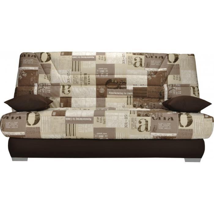 banquette clic clac tissu motifs new paper s pia matelas. Black Bedroom Furniture Sets. Home Design Ideas
