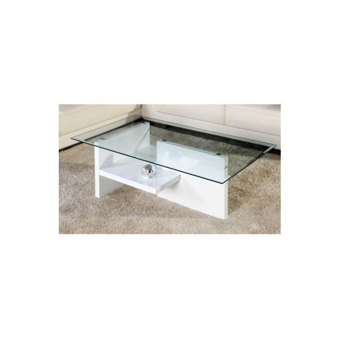 Table basse en verre theo blanc x x achat - Table basse en verre cdiscount ...