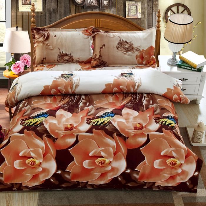 housse de couette a fleur achat vente housse de. Black Bedroom Furniture Sets. Home Design Ideas