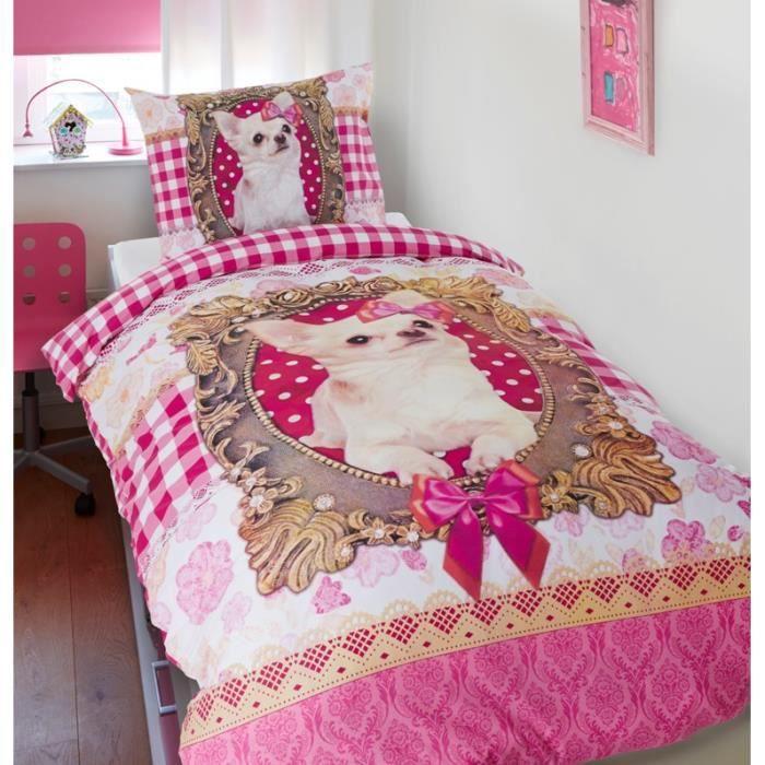 Housse de couette chihuahua achat vente housse de for Housse de couette petit lit