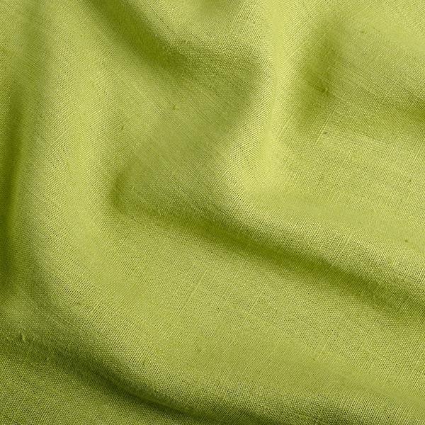 Tissu 100 lin aspect lave couleurs vert anis conditionnement au metre - Tissu lin lave au metre ...